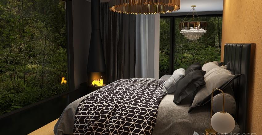Amor en negro Interior Design Render