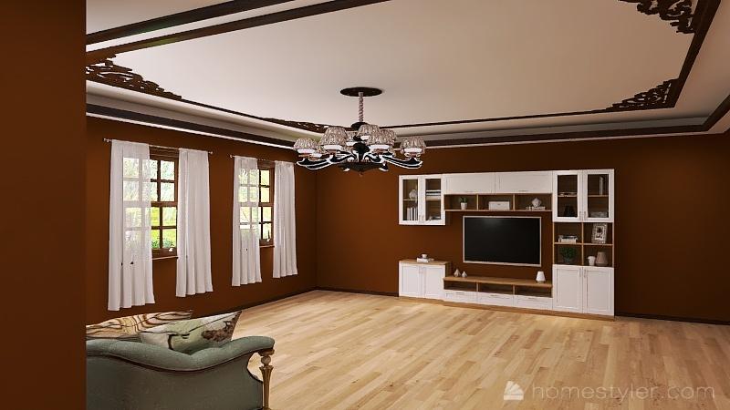 Casa com varanda Interior Design Render