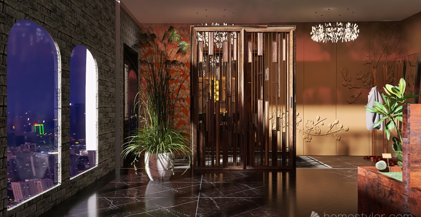 Restaurant with a touch of luxury Interior Design Render