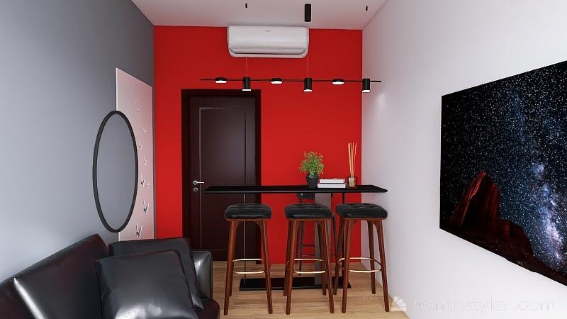 Recepção da Jú Estética Interior Design Render