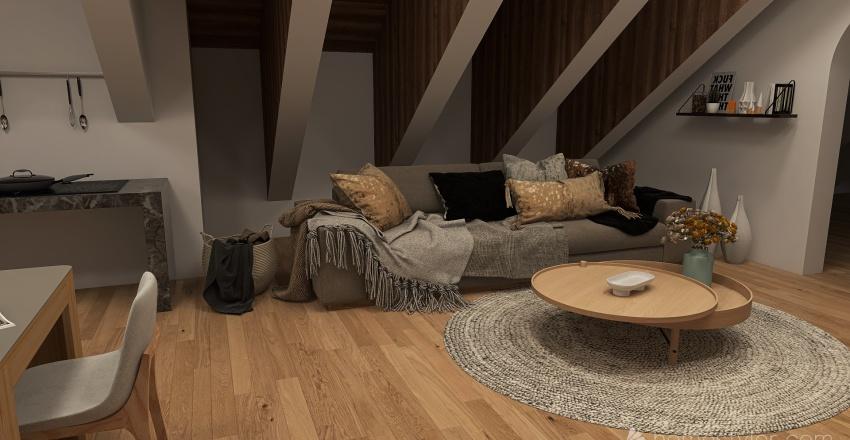 maison dans les rocheuses Interior Design Render