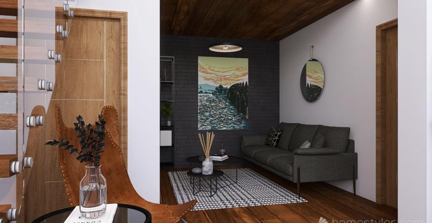 Contemporary loft Interior Design Render
