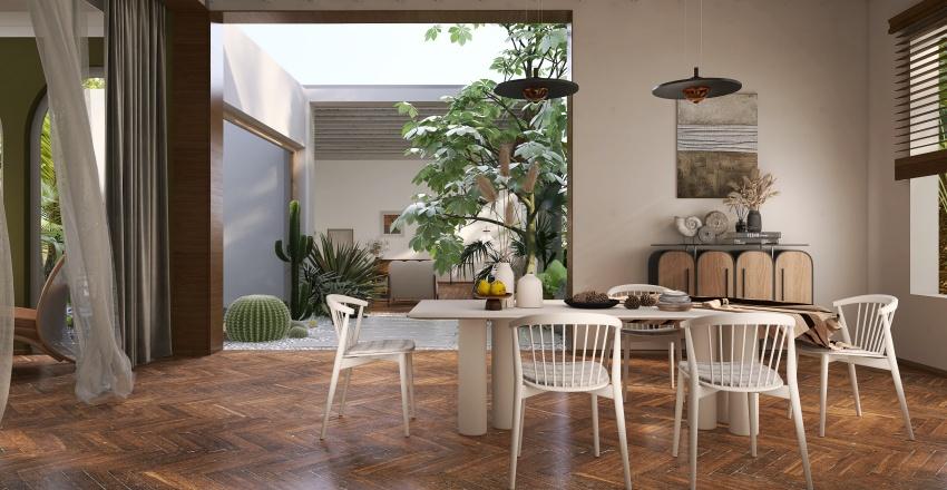 Contemporary Tropical Interior Design Render