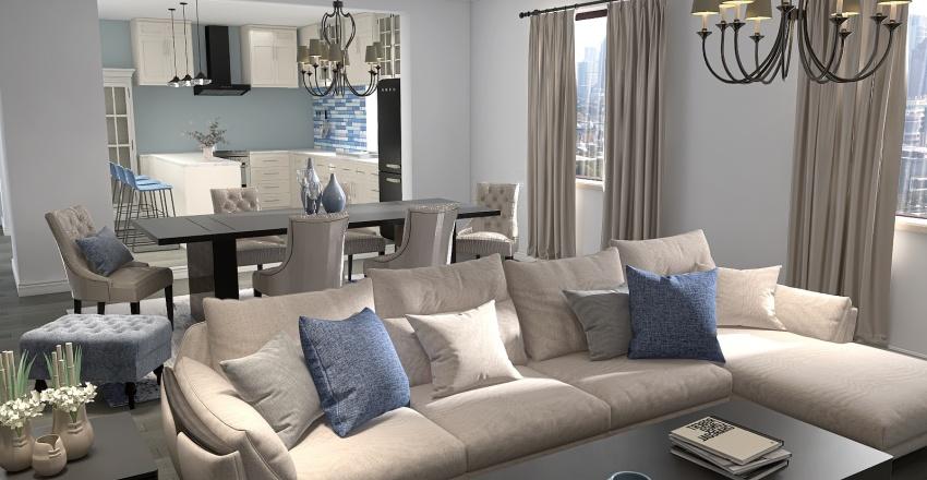 The Blues Apartment  Interior Design Render